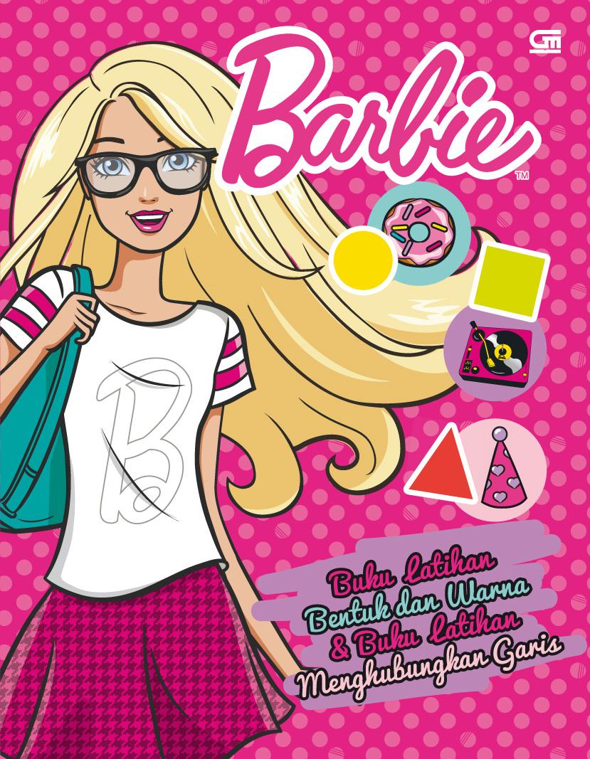Barbie: Buku Latihan Bentuk dan Warna & Buku Latihan Menghubungkan Garis