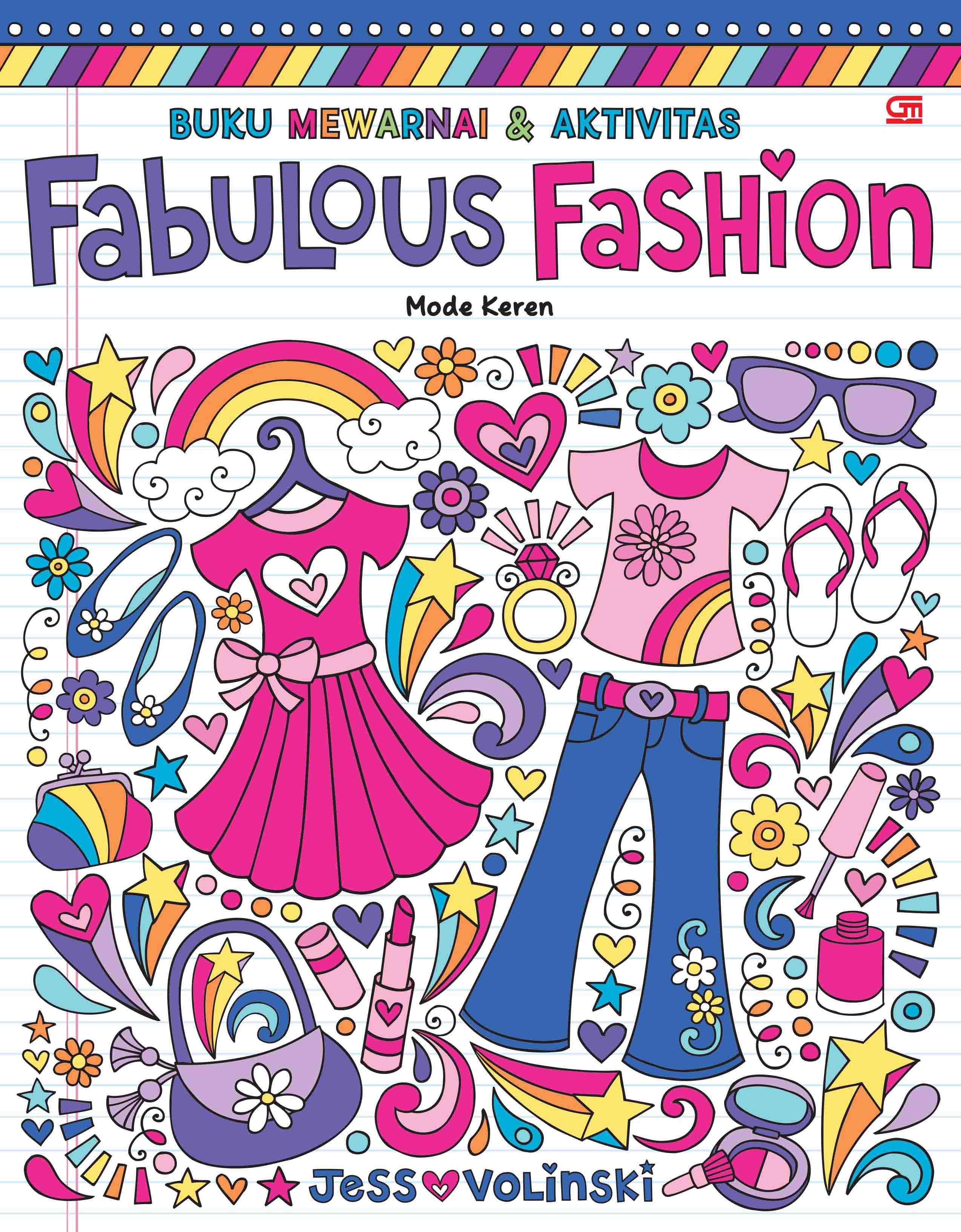 Buku Mewarnai dan Aktivitas: Mode Keren (Fabulous Fashion)