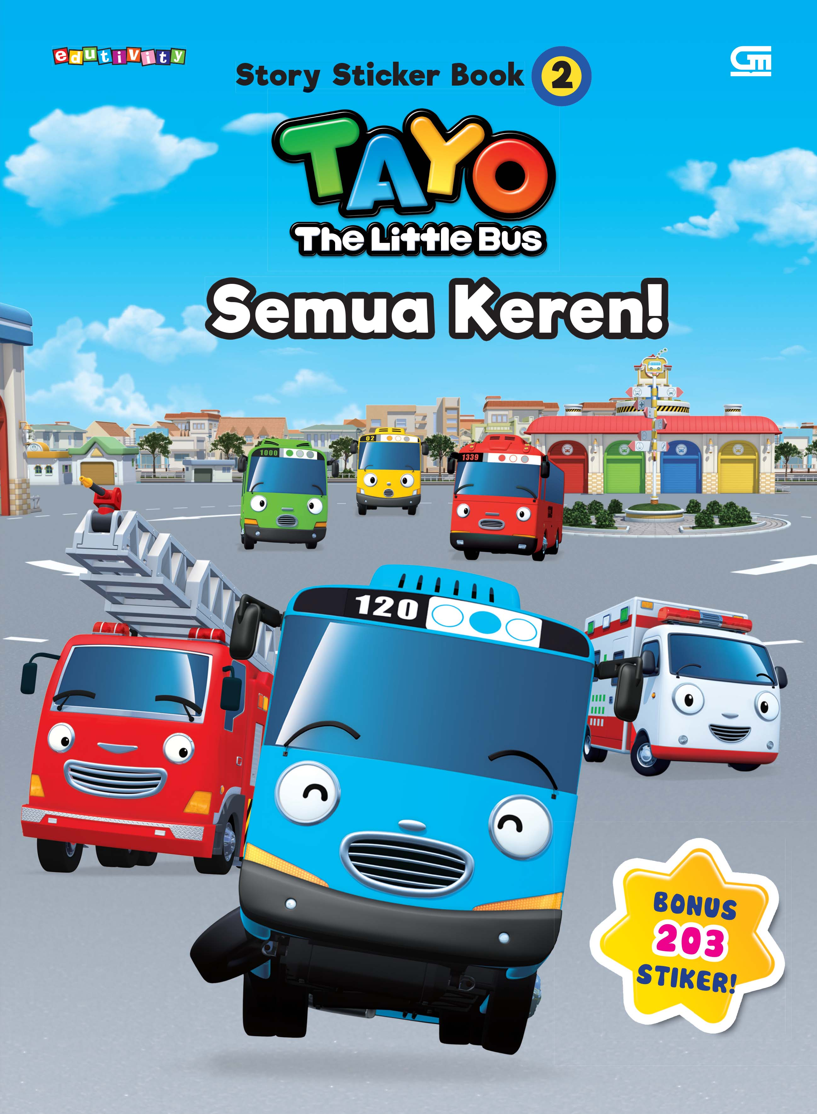 Tayo Story Sticker Book 2 - Tayo The Little Bus: Semua Keren!