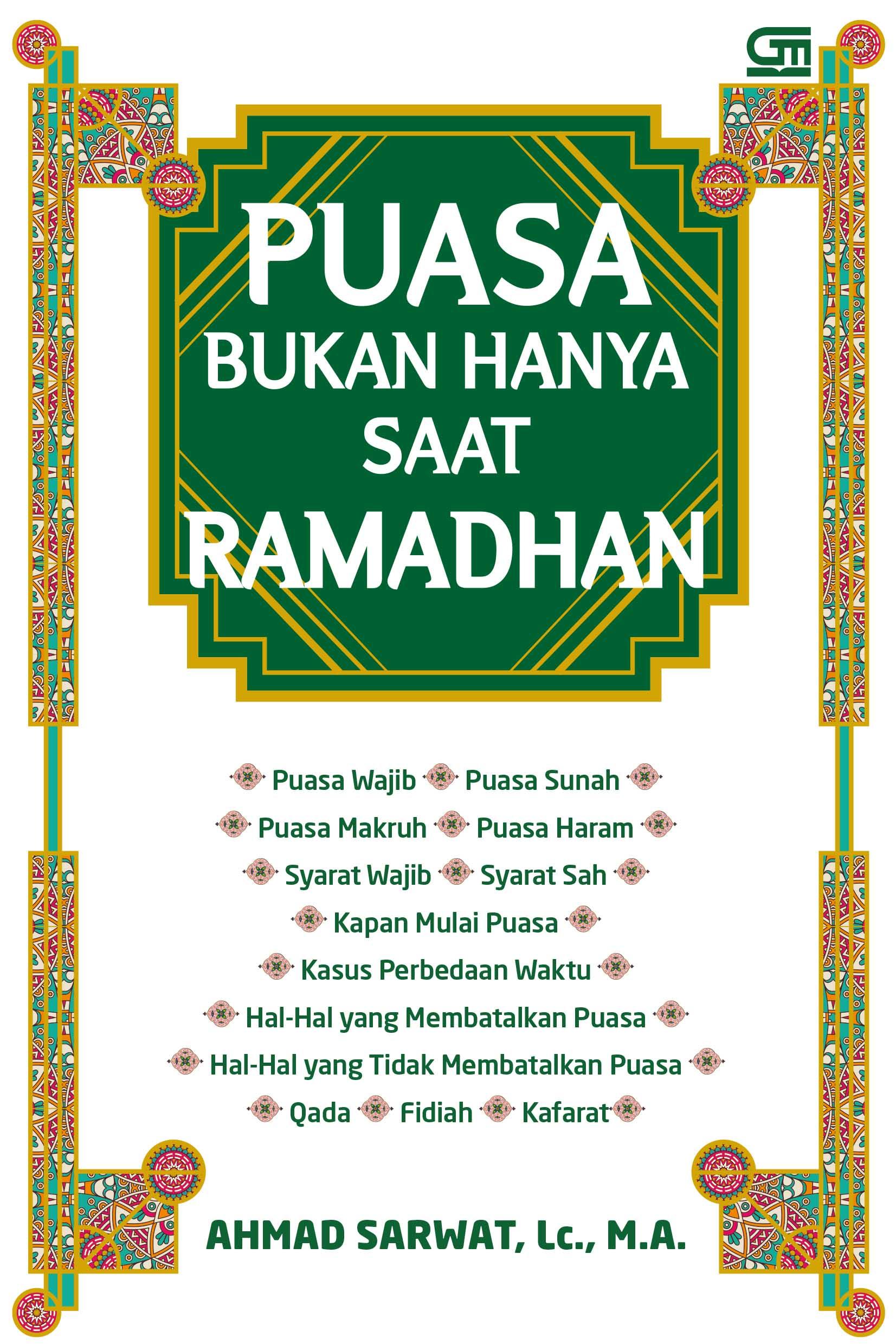 Puasa Bukan Hanya Saat Ramadhan (Cover Baru)