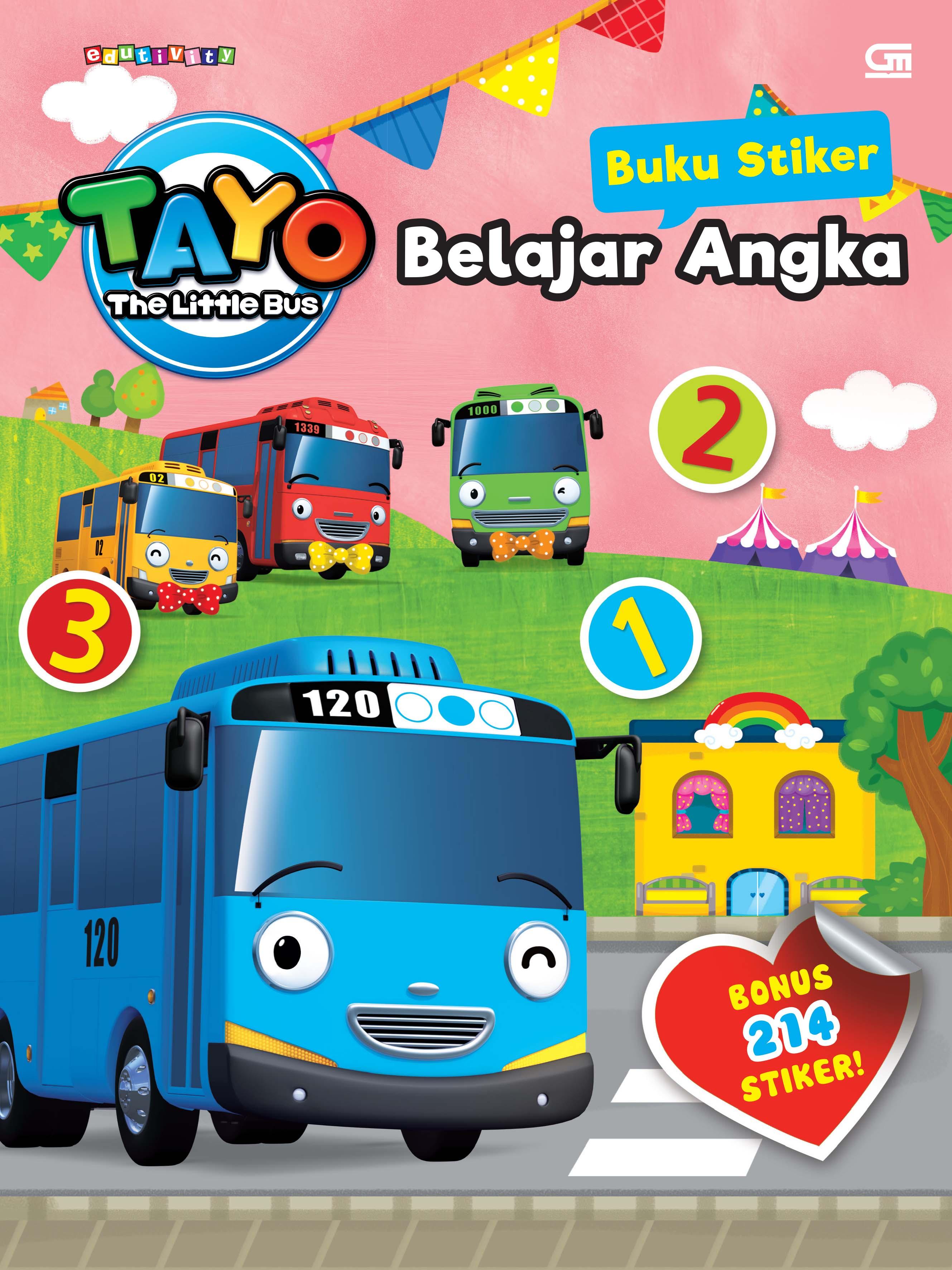Tayo the Little Bus: Buku Stiker: Belajar Angka
