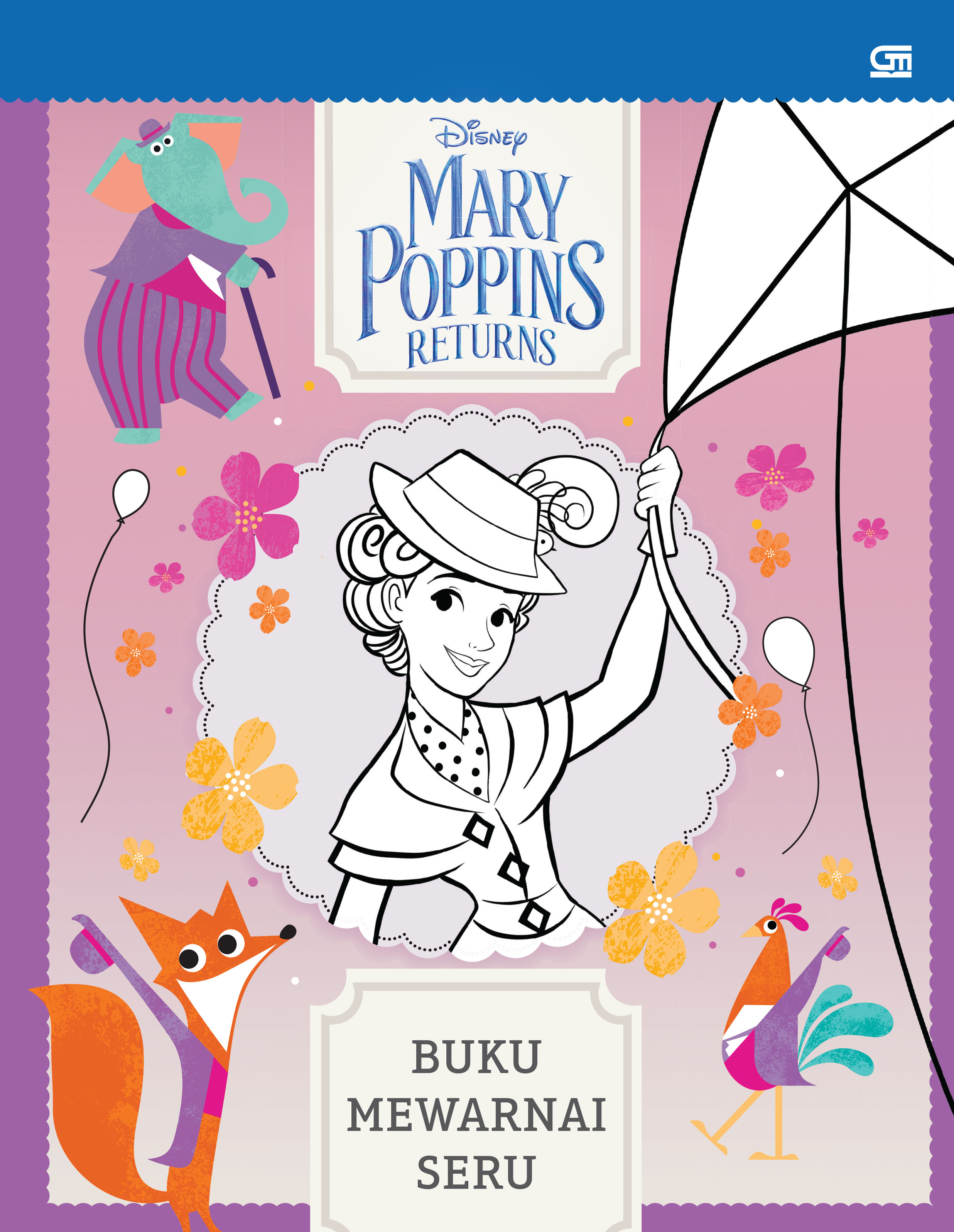 Mary Poppins Returns Buku Mewarnai Seru Gramedia Pustaka