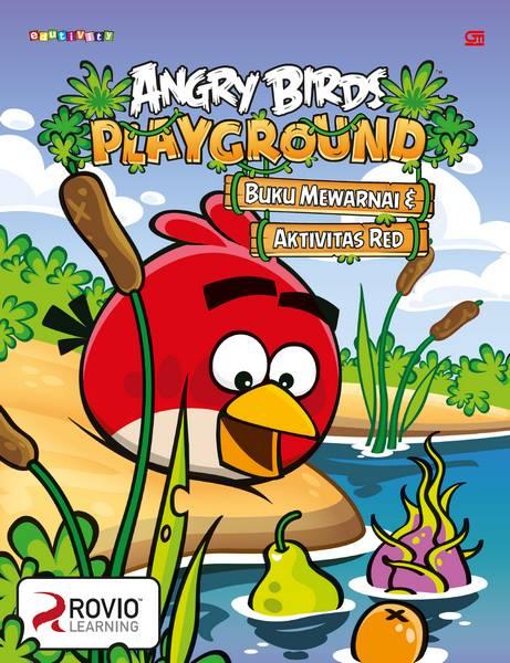 Angry Birds: Playground - Buku Mewarnai & Aktivitas Red