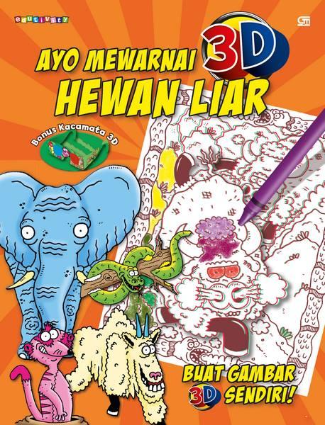Ayo Mewarnai 3D---Colour Me: Hewan Liar---Wild Animals